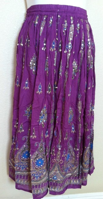 IK Collections Skirt Purple Image 7