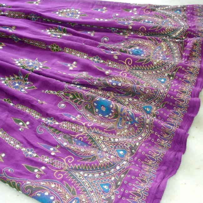 IK Collections Skirt Purple Image 8