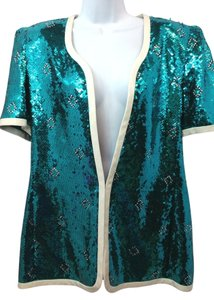 Carolina Herrera Martha Top TEAL