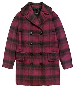 Coach Plaid Long F86235 Pea Coat