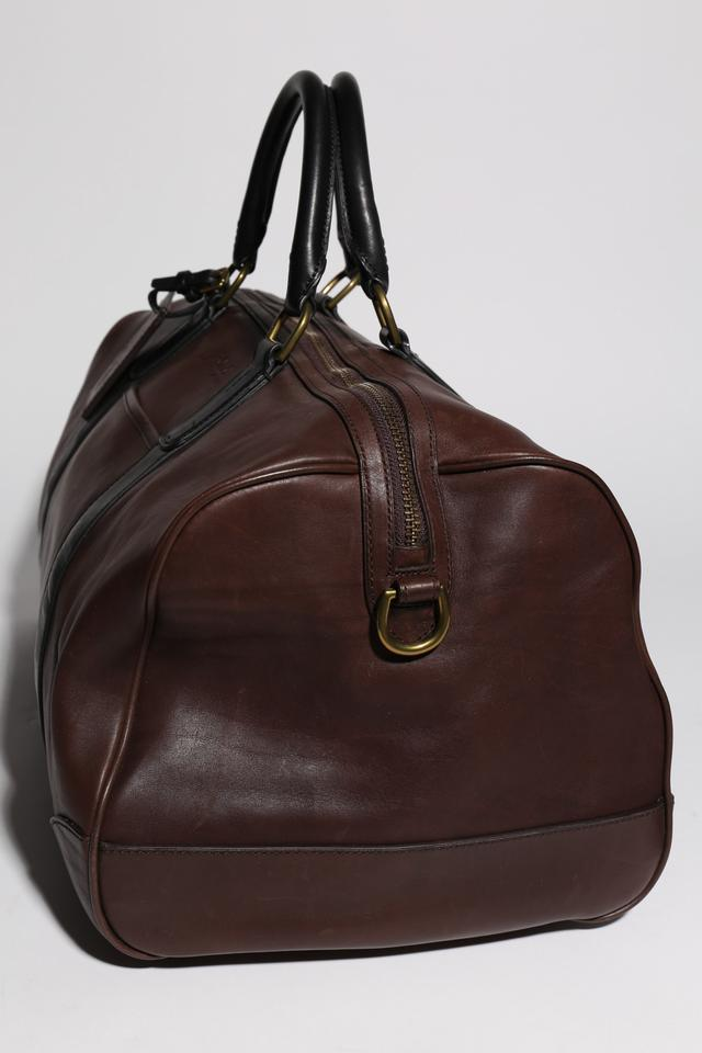 Polo Ralph Lauren   Two-toned Leather Duffel Brown Weekend Travel Bag -  Tradesy d6aa447b3cd3d