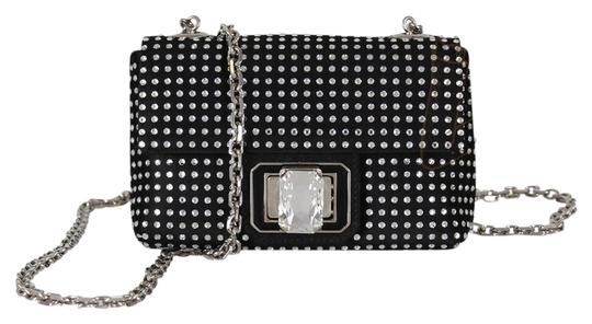 Judith Leiber Satin Diamond Cross Body Bag