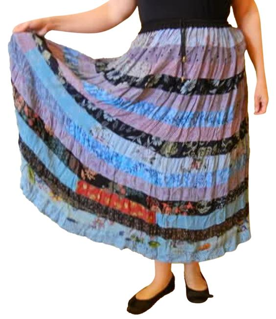 Preload https://img-static.tradesy.com/item/1181838/blue-colorful-bohemian-patchwork-rayon-broomstick-freesize-xl-skirt-size-14-l-34-0-0-650-650.jpg