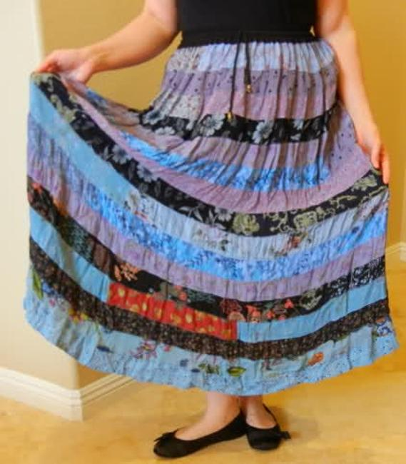 Alyne by Rita Vinieris Maxi Skirt Blue