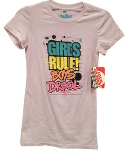 Local Celebrity Graphic T-shirt Girl's Rule Printed T Shirt Light gray