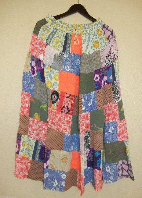 Other India Hippie Broomstick Maxi Skirt Multicolor