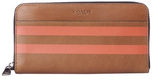 Coach MEN'S varsity stripe accordion wallet in sport calf leather 75132