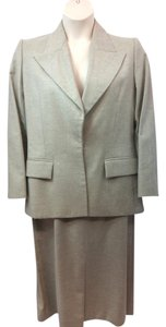 Saint Laurent YVES SAINT LAURENT WOOL SKIRT SUIT 44