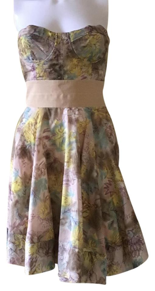 b9c3772730 Elizabeth and James short dress Watercolor Summer Strapless Silk Floral on  Tradesy Image 0 ...