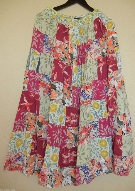 Other Boho Hippie Gypsy Broomstick Elastic Waist Maxi Skirt Pink