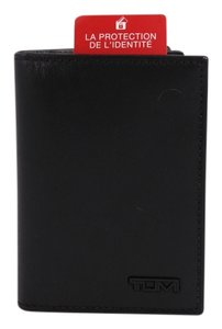 Tumi * Tumi Alpha Grained Leather Black BiFold Wallet