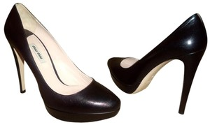 Miu Miu Worn Inside Only Box & Bags Black Pumps