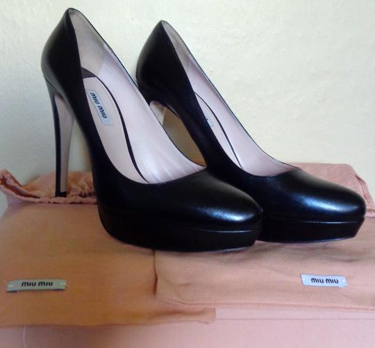 Miu Miu Worn Inside Only Box & Bags Black Pumps Image 1