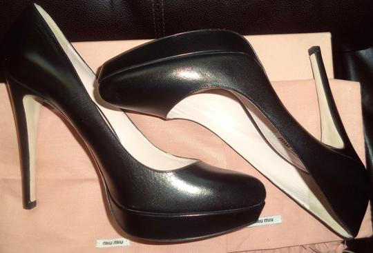 Miu Miu Worn Inside Only Box & Bags Black Pumps Image 2
