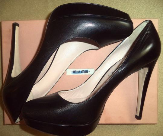 Miu Miu Worn Inside Only Box & Bags Black Pumps Image 3