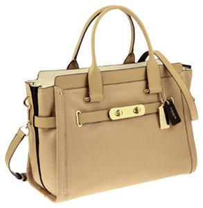 Coach Swagger Swagger 37 Carryall Satchel in light gold/nude