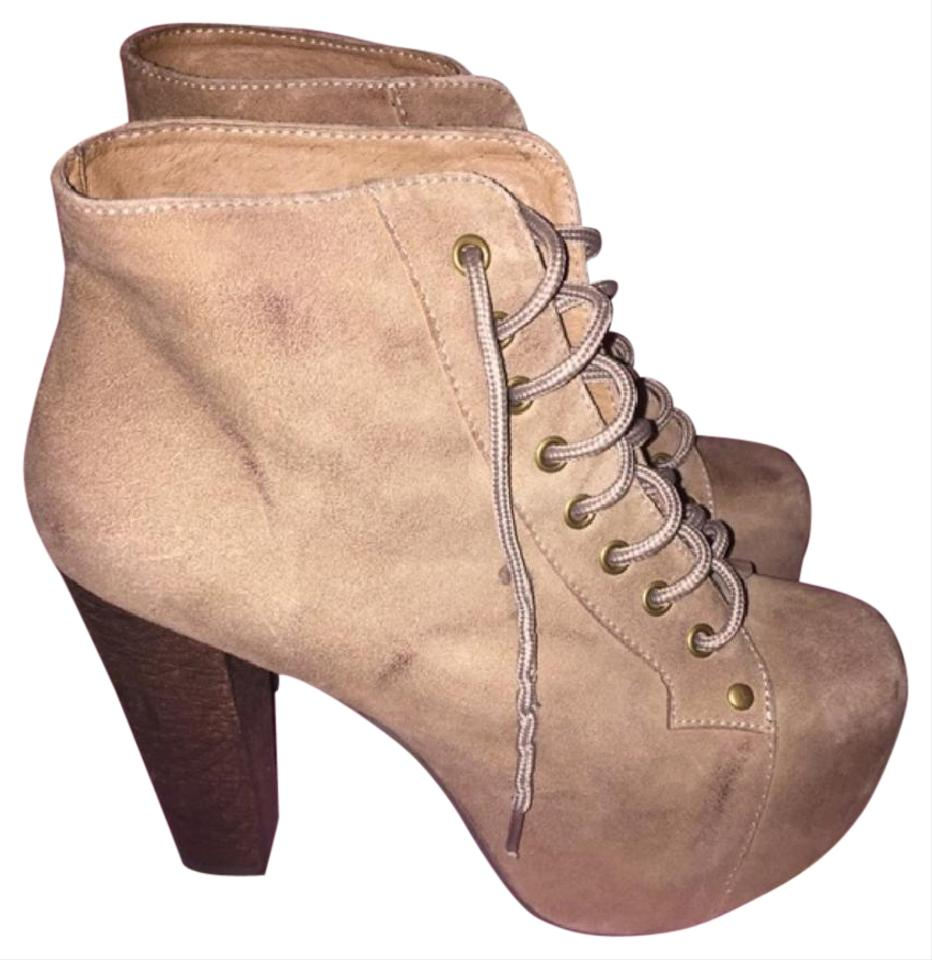 Jeffrey campbell beige lita taupe suede platforms boots size us 7 regular m b from jaskym on - Jeffrey campbell lita platform boots ...