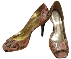 Jessica Simpson Heel Brown Snakeskin Pumps