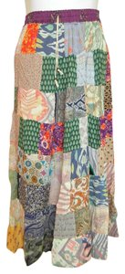 Just Cruising Boho Bohemian Hippie Broomstick Maxi Skirt Multicolor