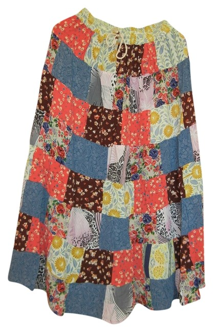 Other Bohemian Boho Gypsy Hippie Broomstick Maxi Skirt Multi Image 0
