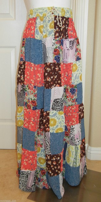 Other Bohemian Boho Gypsy Hippie Broomstick Maxi Skirt Multi Image 3