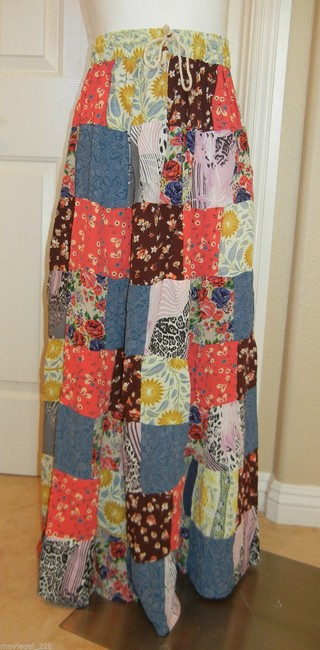 Other Bohemian Boho Gypsy Hippie Broomstick Maxi Skirt Multi Image 5