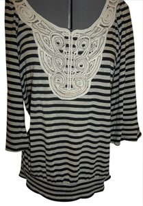 Style & Co Embellished Striped Glittery Tunic