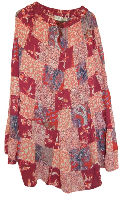 Other Boho Broomstick Long Gypsy India Maxi Skirt Red