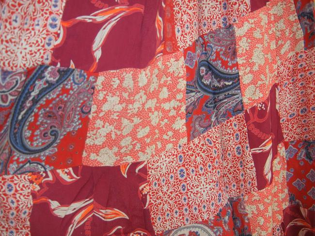 Other Boho Broomstick Long Gypsy India Maxi Skirt Red Image 2