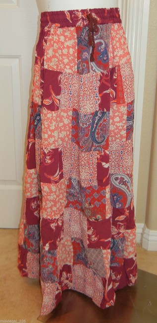 Other Boho Broomstick Long Gypsy India Maxi Skirt Red Image 3