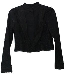 YaYa Aflalo Lace Gothic Morticia Button Down Shirt black