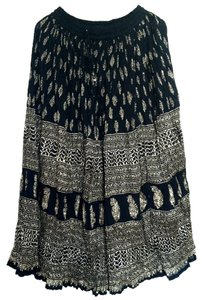 I.K. Collections Maxi Skirt Black