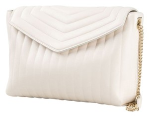 Salvatore Ferragamo One Crossbody White Quilted Shoulder Bag