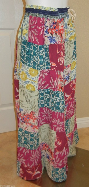 Other Hippie Boho Bohemian Broomstick Gypsy Maxi Skirt Pink