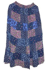 Other Long Hippie Boho Bohemian Broomstick Skirt Navy Blue