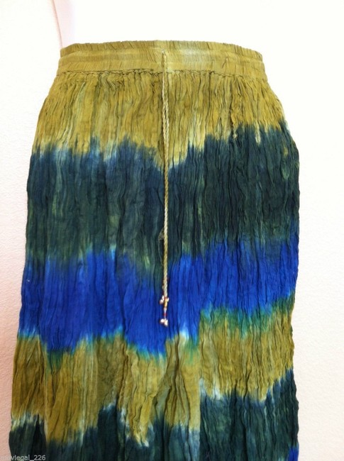 I.K. Collections Maxi Skirt Green Image 5