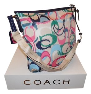 Coach Duffle Ikat Shoulder Bag