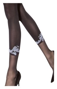 Morean/Floral accent Pantyhose/Beautiful Senuous Glamour/For That Special Woman