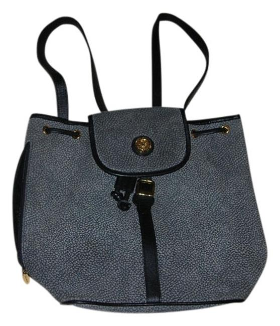 Item - Vintage One Of A Kind Gray Suede and Leather Trim Backpack