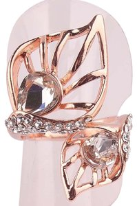 Other New 14K Gold Filled Cubic Zirconia Leaf Ring Size 7.5 J1945