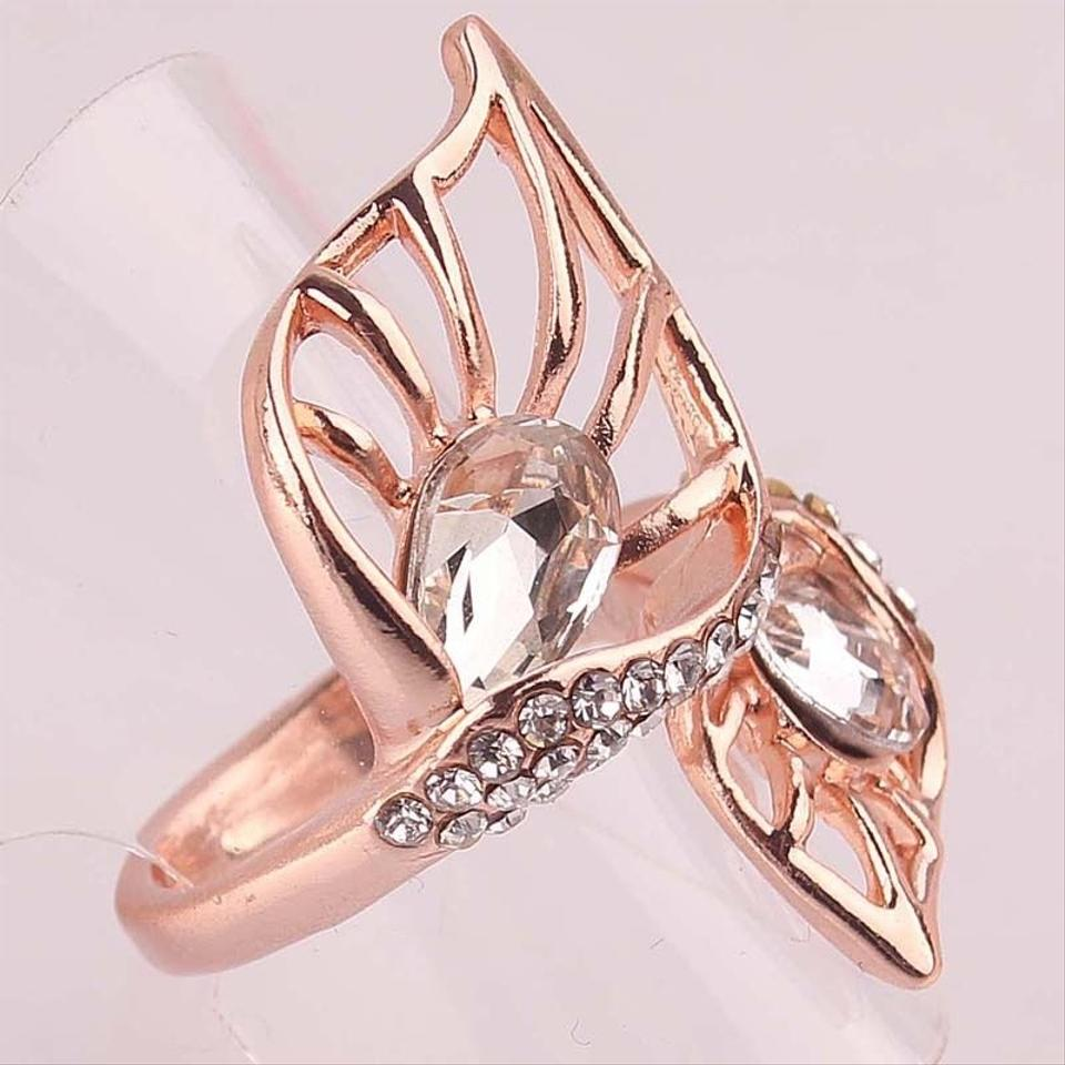 14k Gold Filled Cubic Zirconia New Leaf Size 7.5 J1945 Ring - Tradesy