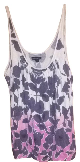 American Eagle Outfitters Top Pink/Purple/White