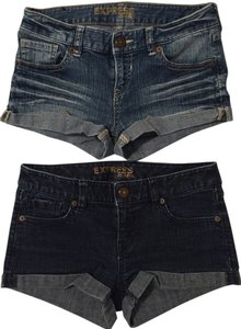 Express Jean Mini/Short Shorts Blue