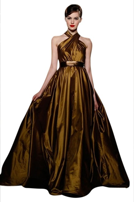 Item - Antique Gold Gown Long Formal Dress Size 4 (S)