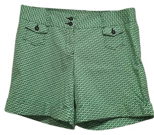 L.L.Bean Cuffed Shorts Green & White
