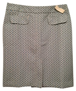 Ann Taylor Skirt Blue and White Patterned