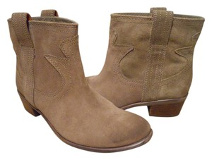 Lucky Brand Leather Suede Ankle Western brown Boots