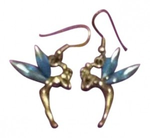 Disney Blue Crystal Tinkerbell earrings