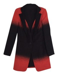 Rebecca Minkoff Ombre Jacket Runway Red & Black Blazer