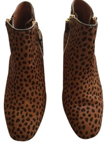 Rebecca Minkoff Pony Hair Leather Leopard Cheetah Ankle Low Heel Casual Fun Street Style Designer Animal Print Boots